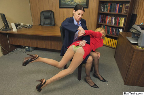 spank over pantyhose