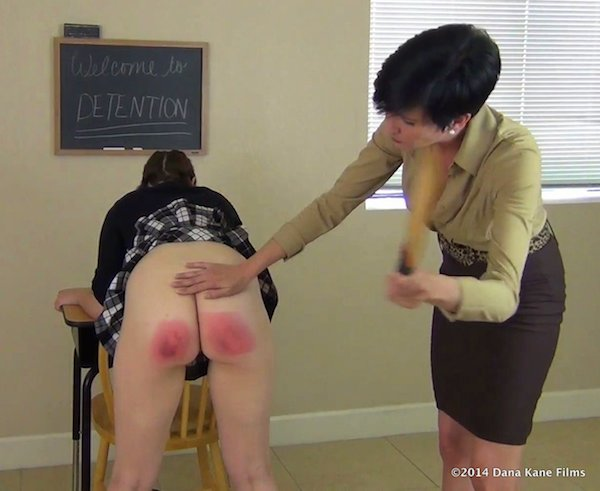 Fiona Murphy gets a severe schoolgirl paddling with a punishment board