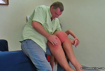 Over knee spanked dads