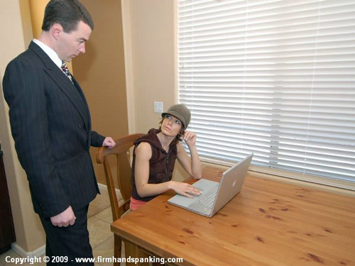 Caroline gets herself into trouble at her laptop