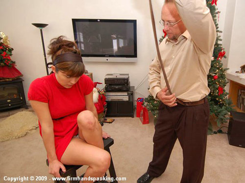 Samantha Woodley is shown Daddy's leather belt