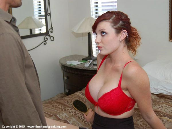 Stacy Stockton in a red bra