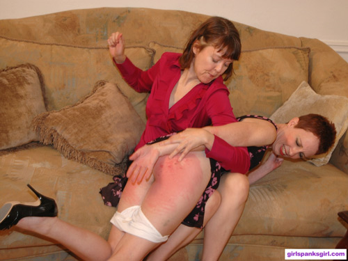 Switch Aunt Helen gets spanked OTK by Clare Fonda