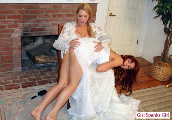 Spank wedding dress