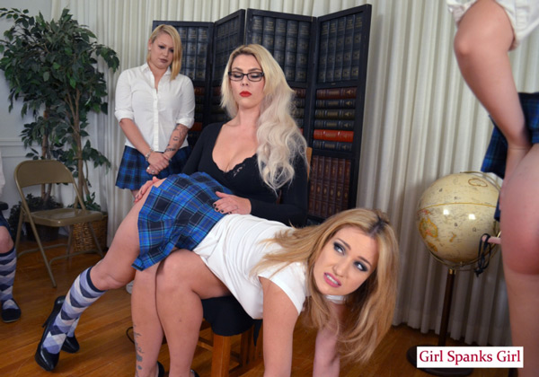 Teacher Bella Bathory spanks naughty schoolgirl Angela Sommers in Exclusive Education 10