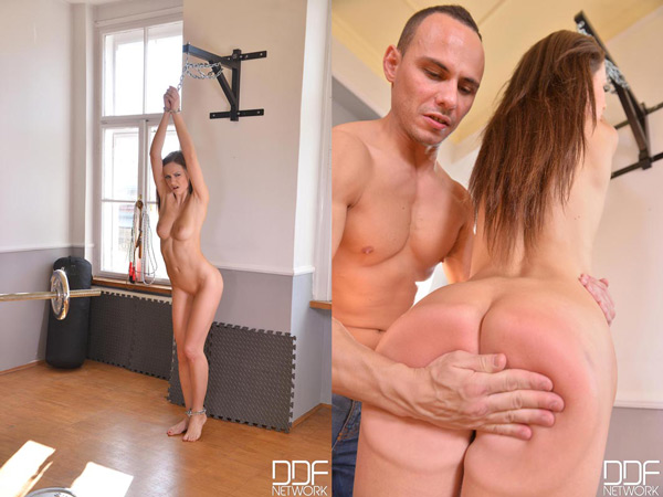 Tina Kay gets Spanked naked in the gym