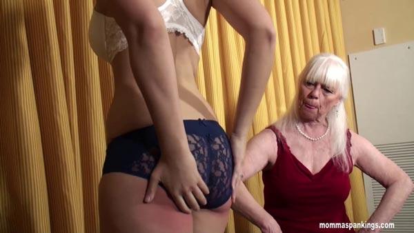 Hard spank her bare ass