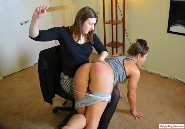 It really turns into the Battle of the Bottoms when Pandora starts to spank Madison Martin's big booty