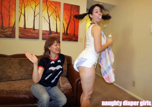 Adult baby girl spanking speaking