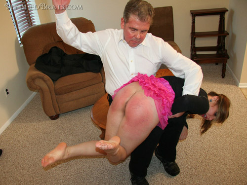 Mischa gets spanked til she's thoroughly sorry in Judge's Orders