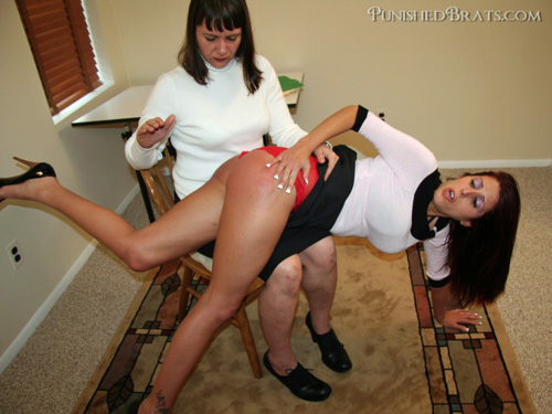 Lavender Rayne gets spanked hard in Secretarial Discipline