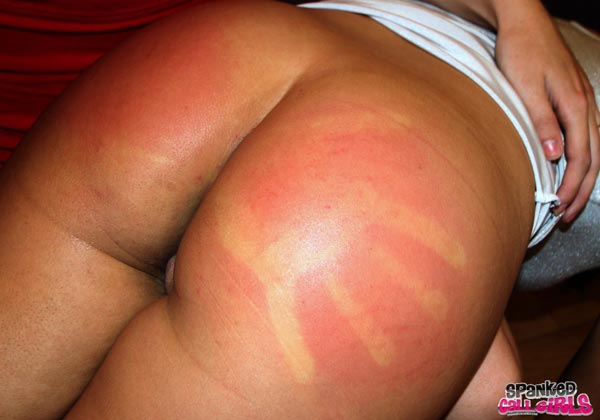 Sore spank bottoms Lily