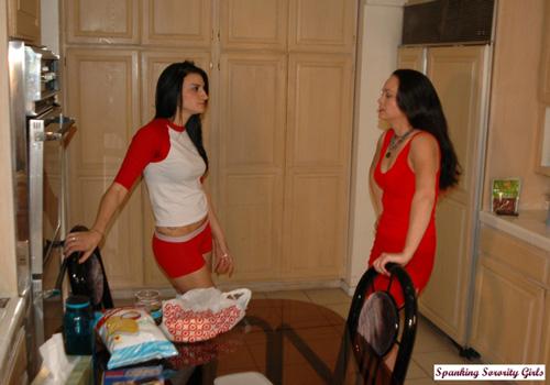 Riley spanks Amaya